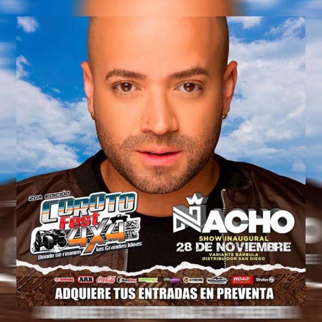 Nacho en Carabobo Show Inaugural en el Coroto Fest 4×4