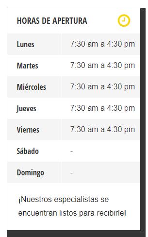 Horarios de Apertura en Todainfo.com